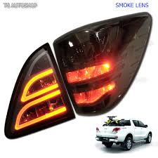 pro mazda smoke led tail lamp light rear taillights fits mazda bt50 bt 50