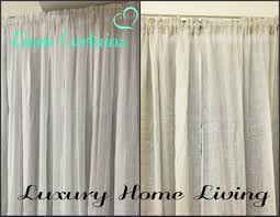 Beige Linen Curtains Provence Linen Curtains French Country Hamptons Provence Pair