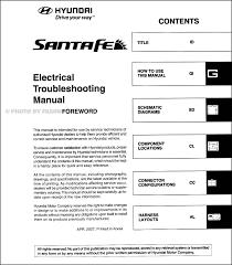 2007 hyundai santa fe wiring diagram lefuro com