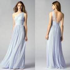 cheap light blue bridesmaid dresses one shoulder light blue bridesmaid dresses elegant long chiffon