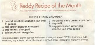 texas power and light company reddy recipe that came with the old tp texas power light utility