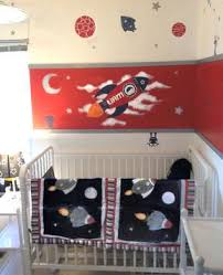 Rocket Ship Crib Bedding Baby Liam S Space Theme Nursery