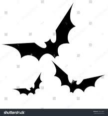 halloween fish background black bats silhouette halloween spooky isolated stock vector
