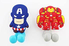 Marvel Bathroom Set Amazon Com Finex Set Of 2 Marvel Avengers Captain America