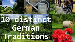 distinct german traditions and german culture