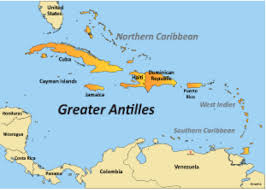 Map Of The Caribbean Islands by Central America Caribbean By Emily Weir