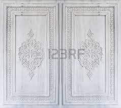 beautiful ottoman turkish ornaments carved on marble stock photo