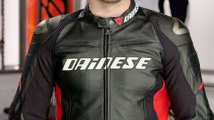 perforated leather motorcycle jacket dainese racing d1 leather jacket review at revzilla com youtube