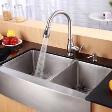 kraus kpf2150sd20 single lever pull out kitchen faucet with hi arc