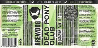 Design Your Own Home Brew Labels Beer Labels Brewdog Dead Pony Club Pale Ale Scotland