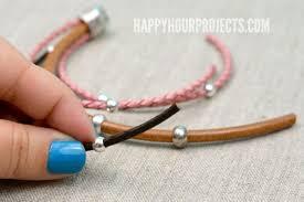 bracelet beaded diy images Easy beaded diy leather bracelet happy hour projects jpg