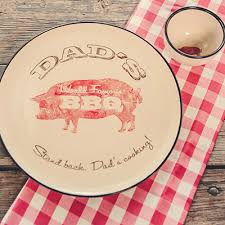 personalized barbecue platter personalized stoneware co