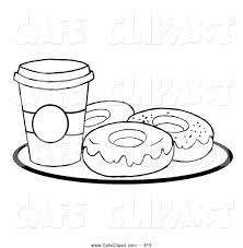 Vector Cartoon Clip Art Of A Coloring Page Of A Cup Of Coffee On A Cup Coloring Page