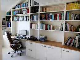 Contemporary Home Office Furniture White Bespoke Fitted Home Office Bespoke Furniture Fitted