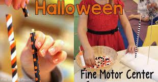 halloween bead u0026 straw towers fine motor center