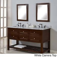 55 Inch Bathroom Vanities by Direct Vanity 60 Inch Mission Spa Dark Brown Double Vanity Sink