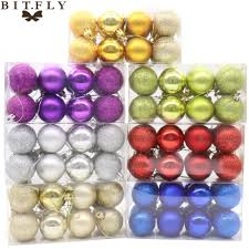 aliexpress com buy bitfly 16pcs 4cm round christmas tree decor