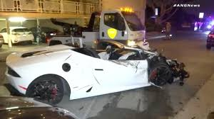 lamborghini clothing lamborghini huracan spyder crashes during alleged street race in