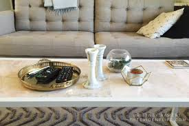 diy marble coffee table the evident life