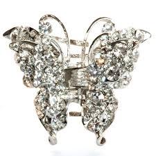 butterfly hair clip butterfly hair clip silver clip lemonade hair