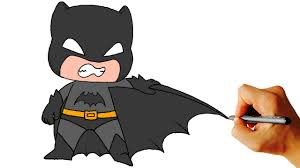 how to draw batman chibi from batman comics easy step by step