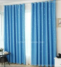 Best Blackout Curtains For Bedroom Blackout Curtains In Blue Color Of Star Printed For Kids Bedroom