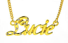 Necklace With Name 18k Gold Plated Necklace With Name Lucie Bridal Nekless Love