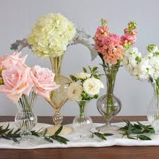 Small Vase Flower Arrangements Blush Bud Vases Makes 30 U2014 Flower Moxie