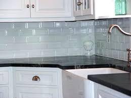 Backsplash With White Kitchen Cabinets - glass tile backsplash with white cabinets kitchen grey grey