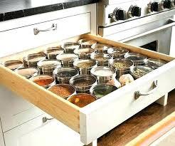 kitchen spice storage ideas spice rack drawers for cabinet spice drawer storage modern