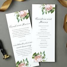 wedding programs cheap template wedding program template printable folded order of