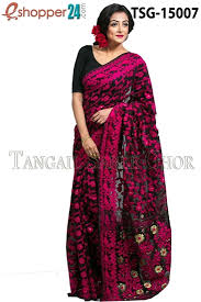 bangladeshi jamdani saree collection tangail moslin jamdani saree tsg 15007 online shopping in