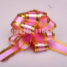 pull bow ribbon 20 x pink large big 50mm pull bow ribbon flower gift packing