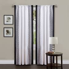 Black White Gray Curtains Black White Gray Curtains Decor With Black Printed Cotton