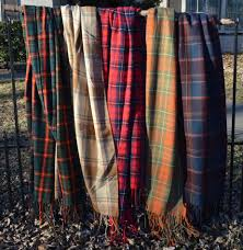 Extra Wide Table Runners Cashmere Tartan Plaid Fringed Scarf Shawl Or Table Runner Extra Lo