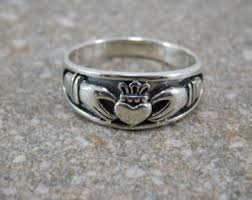 mens claddagh ring mens claddagh ring etsy