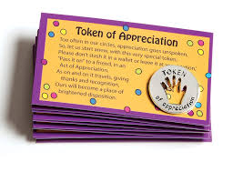 tokens of appreciation and cards set of 10