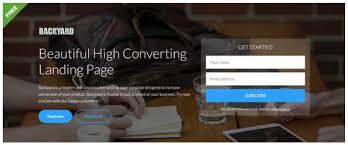 backyard u2013 high converting free bootstrap landing page template