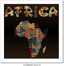 africa map fabric free print of africa map with typography made of