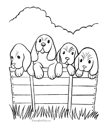 Coloring Pages Of Dogs And Puppies 109 Dogs Color Pages