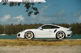 white porsche 2016 white porsche 911 turbo s adv05 m v2 cs series wheels 21x9 5