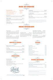menu u2013 the porch