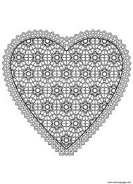 free mandala difficult to print heart coloring pages printable