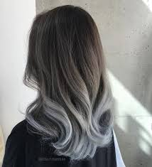 black grey hair silver colour pinteres