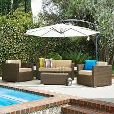 abbyson outdoor wicker 4 piece patio conversation set