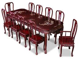 oriental dining room set queen anne dining room chairs queen anne