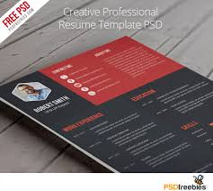 Photo Resume Template Free Creative Professional Resume Template Free Psd Psdfreebies Com