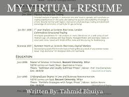 visual resume examples i grew up in milwaukee wisconsin visual resume examples virtual my virtual resume
