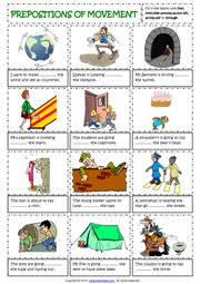 prepositions esl printable worksheets and exercises