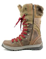 womens brown leather boots canada melita brown apres ski collection santana canada